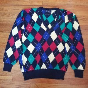 Pringle Argyle Cotton Sweater